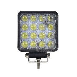 Светодиодный прожектор vectra, светодиодный светильник, квадратный, для ремонта автомобиля, 48 Вт, для съемки, светильник