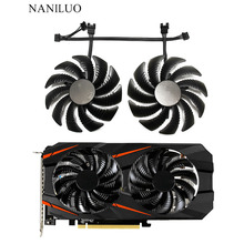 Новый вентилятор охлаждения 87 мм PLD09210S12HH 0.40A 4Pin для Gigabyte GeForce REDEON AORUS RX580/570 GIGABYTE GV-RX5 gigabyte geforce gtx1050 gv n1050oc 2gd