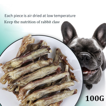 Air Dried Natural Rabbit Claw Dog Treat