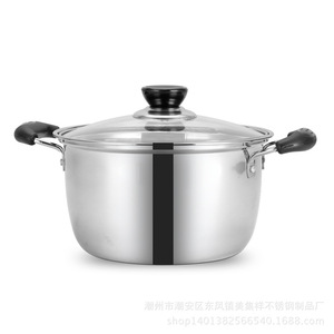 Image 2 - 1pcs Stainless Steel pot 1.5L 4L Double Bottom Soup Pot Nonmagnetic Cooking Multi purpose Cookware Non stick Pan general use