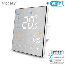 Termostato inteligente WiFi controlador de temperatura para agua/calefacción eléctrica de suelo Agua/caldera de Gas funciona con Alexa Google Home