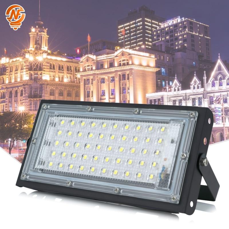 50W Waterproof Ip65 LED Flood Light AC 220V 230V 240V Spotlight Outdoor Garden Lighting Led Reflector Cast Light Floodlights