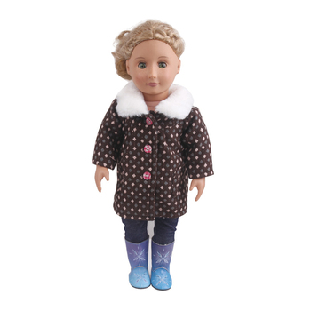 18 inch Girls doll clothes Vintage checked spring wear Baby toys cap American new born dress fit 43 cm baby accessories c856 baby born doll clothes toys white polka dots dress fit 18 inches baby born 43 cm doll accessories gc18 36