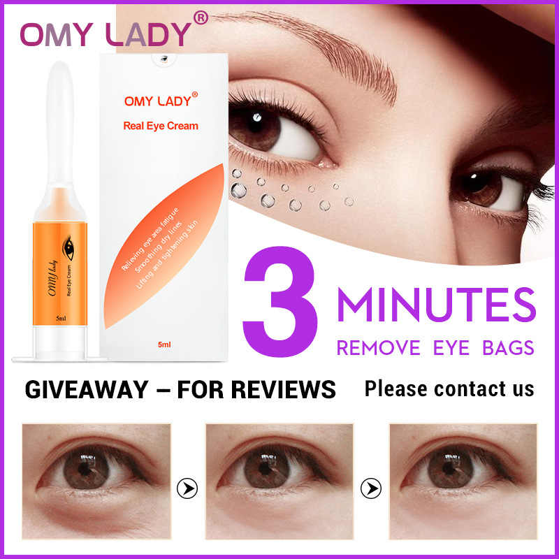 Omy Lady 3 Minutes Eye Bags Remove Eye Cream Peptide Anti Wrinkle Anti Age Remover Dark Circles Eye Skin Care Aliexpress