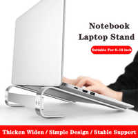 Soporte de aleación de aluminio para ordenador portátil, Base de 10-18 pulgadas para Macbook Pro, soporte de refrigeración