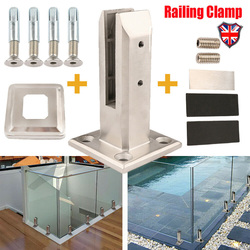 Glass Inox Railing Handrail Stand Glass Clamp Stainless Steel Durable Handrail Clamp Stand Balustrade Swimming Pool Accessories