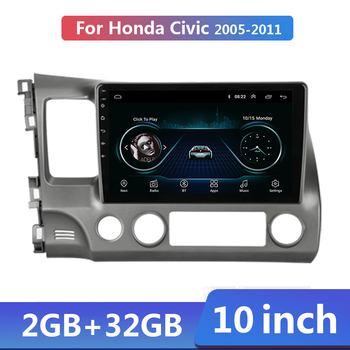 10.1 Android 9.1 2G+32G 2 din Car Multimidia Video Player Navigation GPS Car Radio Stereo For Honda Civic 2005-2012 Autoradio image