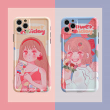 Japanese Anime sweet girls cute Phone Case for iPhone 11 Pro Max case Silicone cover For iPhone XS MAX XR X 7 8 Plus SE2020 case(China)