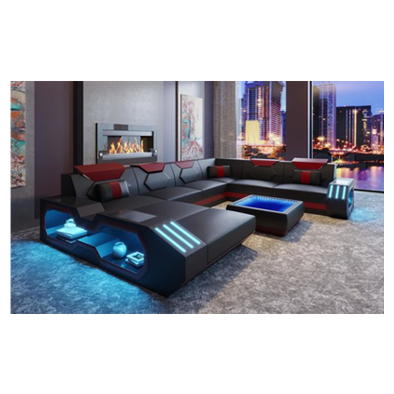 new arrival luxury design leather sofa living room sofas 2