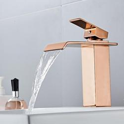 Basin Faucets Rose Gold Sink Mixer Taps Bathroom Faucet Hot and Cold Brass  Water Faucet Lavotory Mixer Crane Mixer