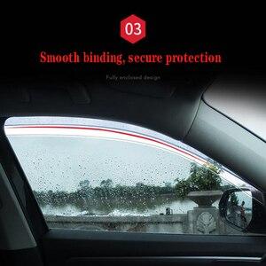 Image 5 - 4Pcs Auto Fenster Visier Tür Regen Sonne Schild Seite Windows Abdeckung Trim Auto Zubehör Für Volkswagen Teramont