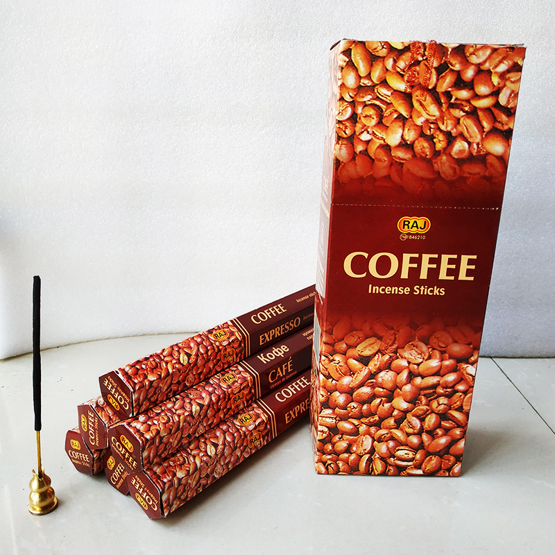 T One Small Box Coffee Hand Rolled Natural India Stick Incense For Wood Burner Burning In Yoga Room Wholesale Lots Bulk Incense
