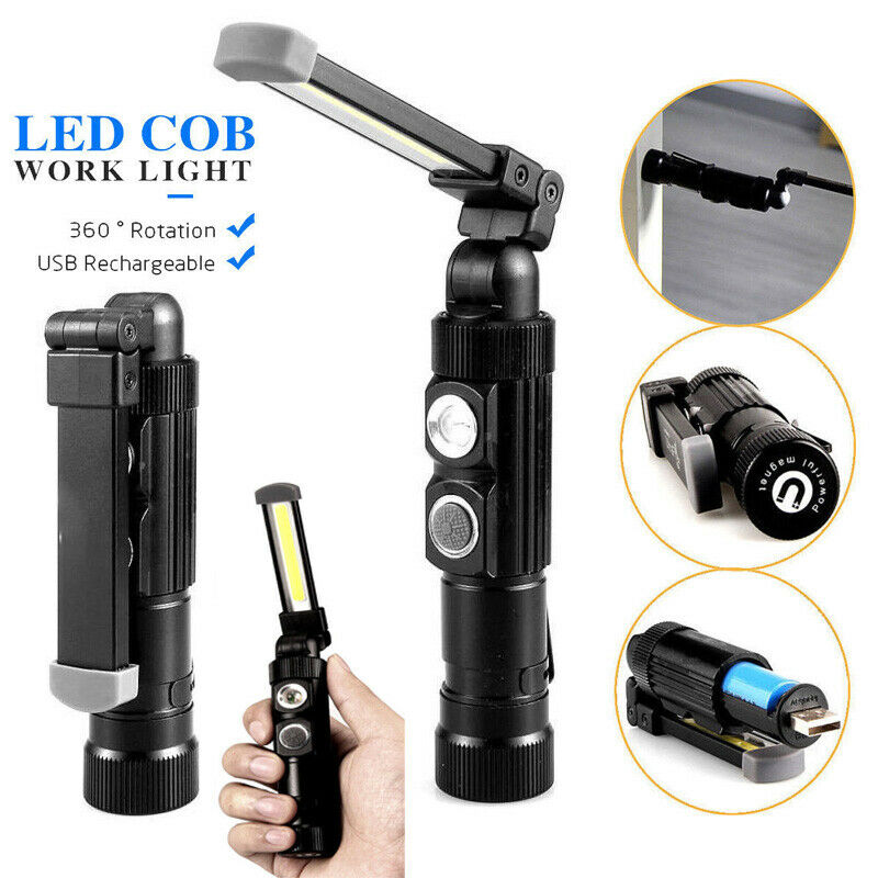 Dreamburgh New COB LED Work Light Lamp Flashlight Fold Torch Mini Magnetic Torch Inspection Lamp For Outdoor Camping Working Car