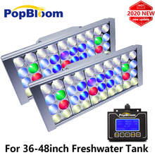 2 sztuk PopBloom słodkowodne oświetlenie Led do akwarium sadzone zbiornik oświetleniowa lampa Led dla oświetlenie do akwarium 6500k lampa Led do wzrostu Turing30