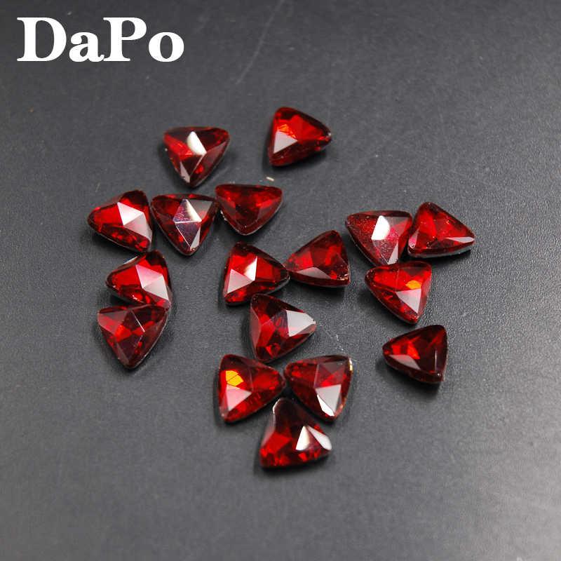 חדש אדום/אור סיאם צבע Tri-זווית צורת Pointback זכוכית קריסטל Strass 6mm 8mm 10mm 18mm 23mm עבור שמלת עגילי שרשרת