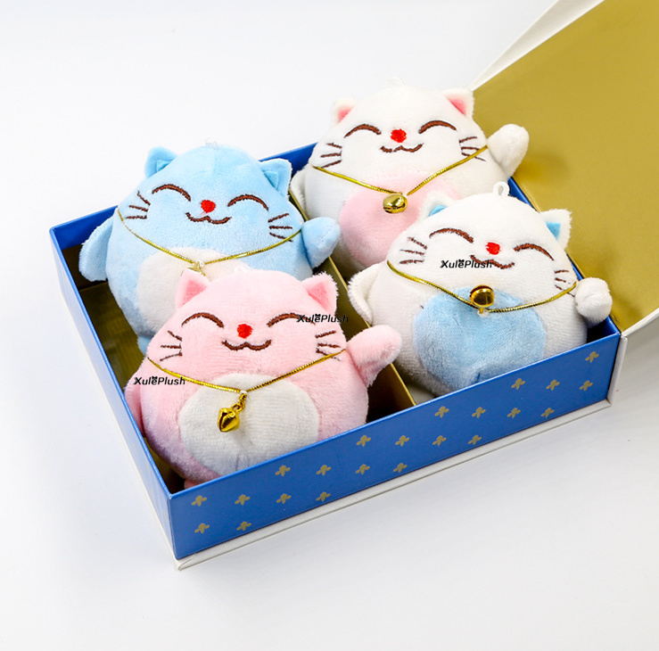 Sweet , 4colors , Cat Stuffed plush TOY DOLL , 8CM Children kid's Party Gift TOY , Plush CAT Toy