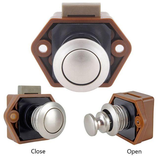 Diameter 20mm Camper Car Push Lock RV Caravan Boat Drawer Latch Button Locks For Furniture Hardware 4