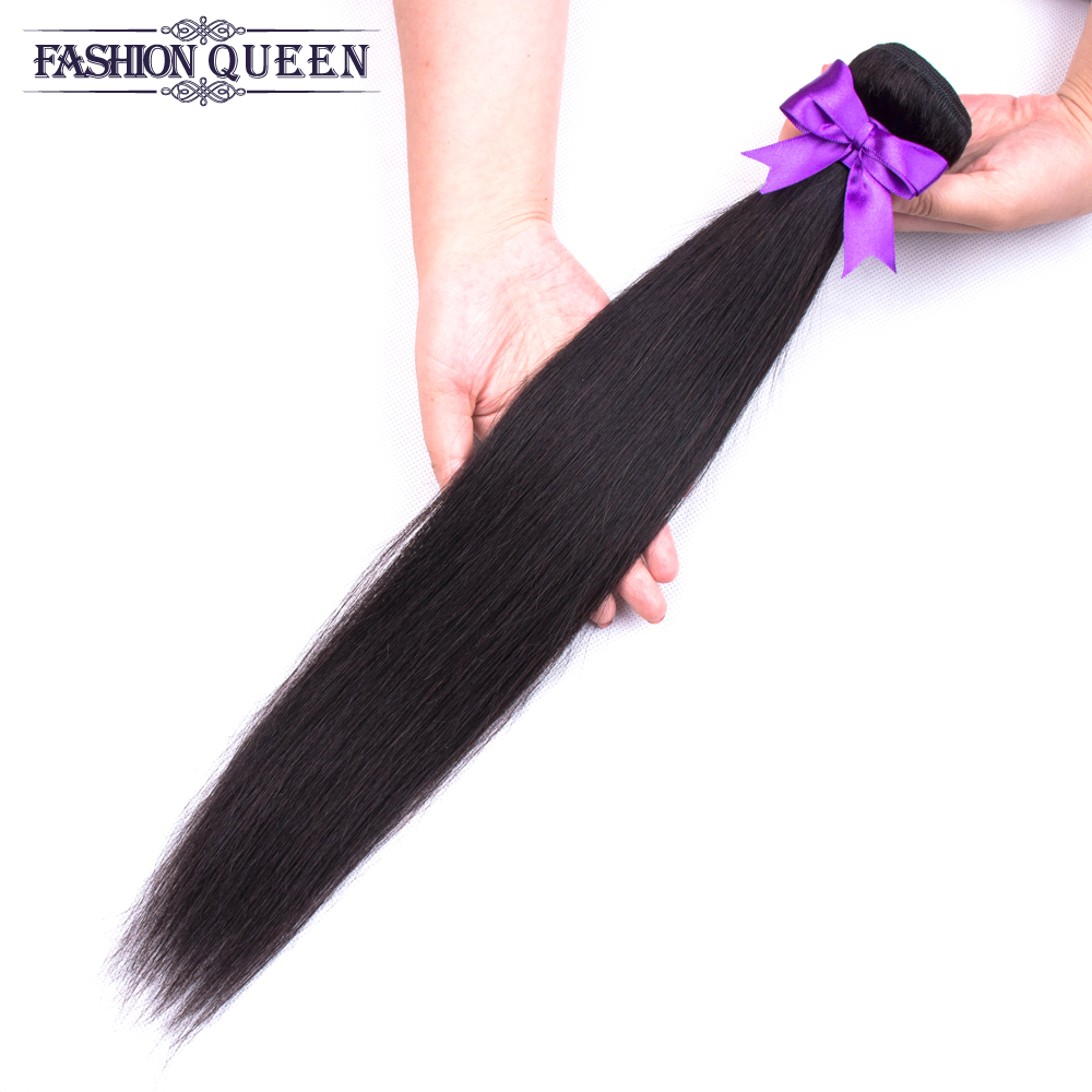 H2d6e0fe7186647388c619738a842bb81v Brazilian Straight Hair Bundles With Closure 3 Bundles Human Hair Weave Bundles With Closure Hair Extensions Fashion Queen
