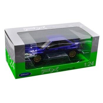 Welly 1/24 Scale Subaru Impreza WRX STI Racing Sports Car Diecast Display Plastic Alloy Model Child Children Kids Boys Toy bburago машинка bburago subaru impreza wrx sti 1 43