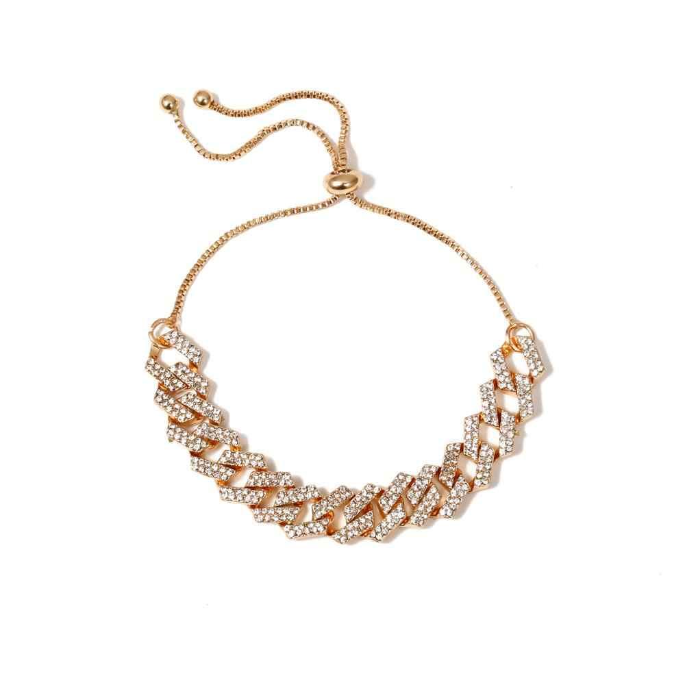 IngeSight.Z 4 kolory urok luksusowe błyszczące Rhinestone bransoletka na kostkę regulowane kryształowe bransoletki na kostkę na stopy boso sandały biżuteria