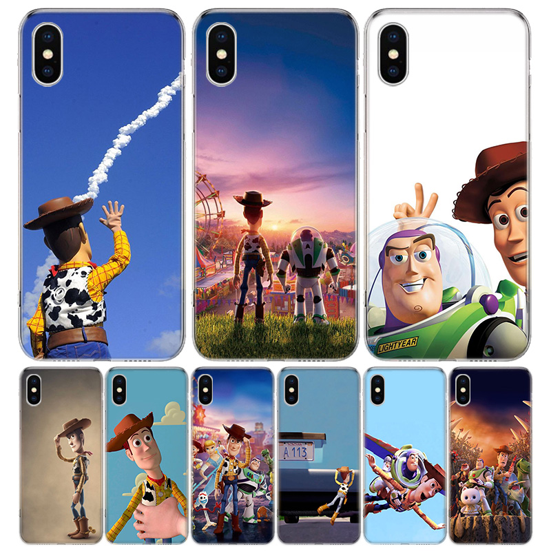 <font><b>Toy</b></font> <font><b>Story</b></font> Cover Phone Case For <font><b>Iphone</b></font> 11 Pro 7 <font><b>6</b></font> X 8 6S Plus XS MAX + XR 5S SE 10 9 Art TPU Coque <font><b>Capa</b></font> Shell image
