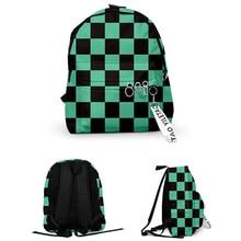 Tueur de démons: Kimetsu no Yaiba sac à dos sac en toile Kamado Tanjirou sacs d'école fille Mochila Feminina Nezuko sac pour ordinateur portable Cosplay