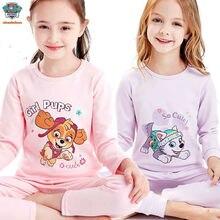Детская Пижама с изображением героев мультфильма «Щенячий патруль»; удобная детская пижама принцессы Скай Эверест из чистого хлопка; Детская плюшевая кукла; подарок