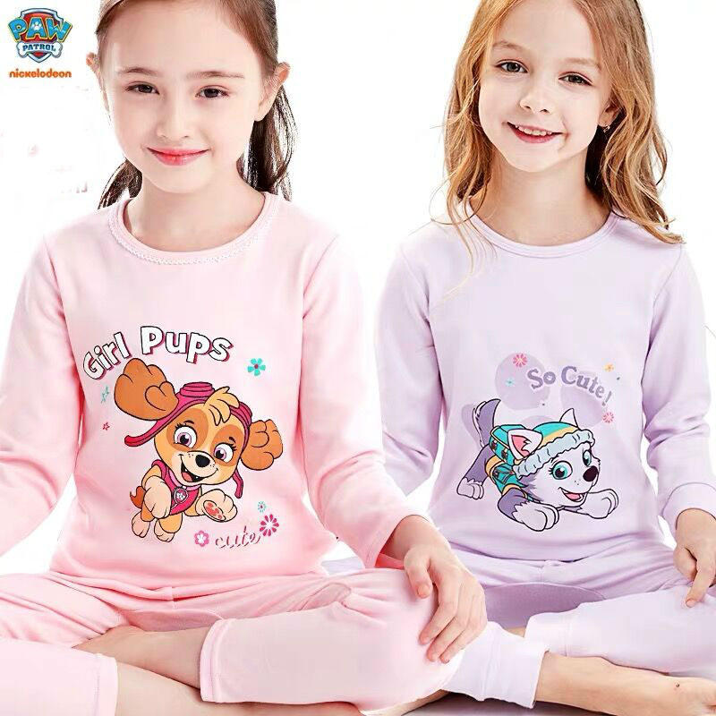 Genuine Paw Patrol Children's Pajamas Princess Skye Everest Baby Cartoon Comfortable Pure Cotton Chase Kids Plush Doll Toy Gift