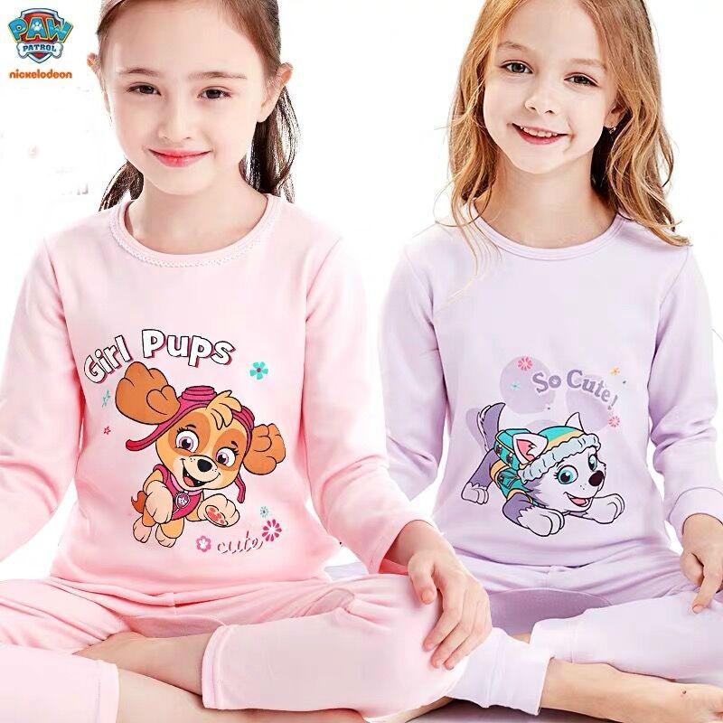 Genuine Paw Patrol Children's Pajamas Princess Skye Everest Baby Cartoon Comfortable Pure Cotton Chase Kids Plush Doll Toy Gift