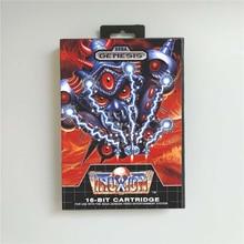 "Truxton ארה""ב כיסוי עם תיבה הקמעונאי 16 קצת MD משחק כרטיס עבור Sega Megadrive בראשית וידאו קונסולת משחקים"
