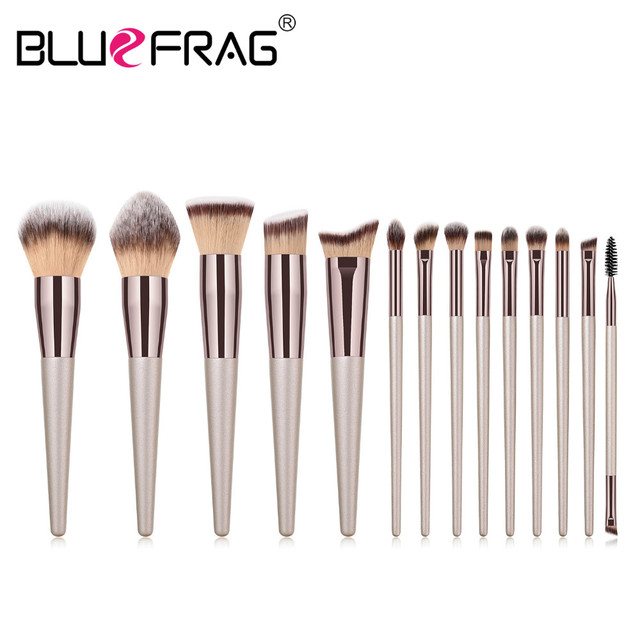 BLUEFRAG 5-14pcs Makeup Brush Set Cosmetic Foundation Powder Blush Eye Shadow Lip Blend Make Up Brushes Tool Kit Maquiagem 1