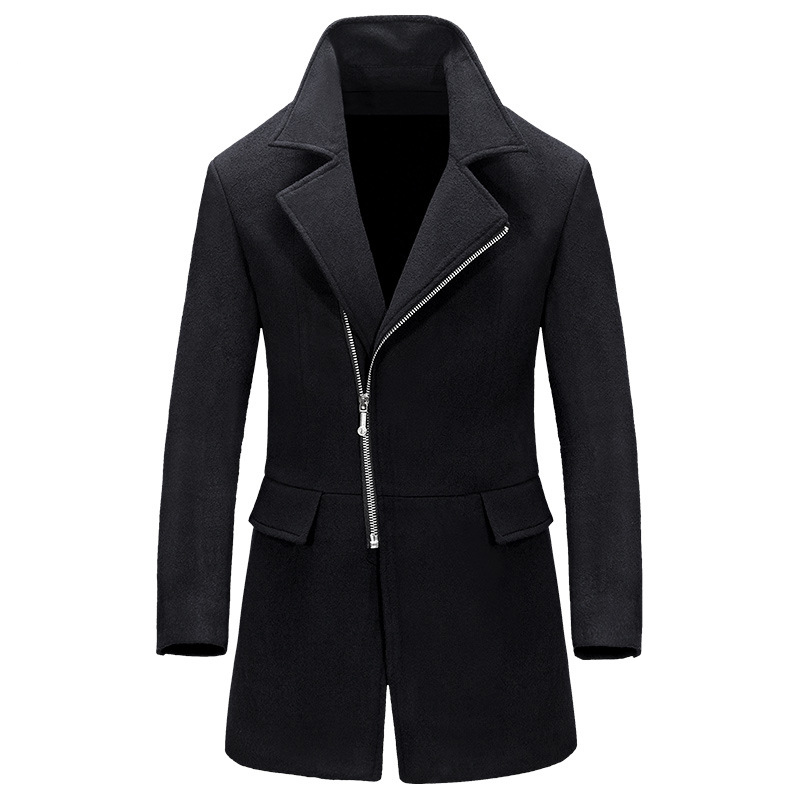 Woolen Coat Men Winter Wool Jacket Men's Coat Casual Mens Coats Overcoats New Arrival 2020 Outwear Abrigo Hombre KJ242