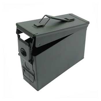 New 30 Cal Metal Ammo Case Can Military And Army Solid Steel Waterproof Holder Box For Long-Term Gun Ammo Storage Stackable 2020
