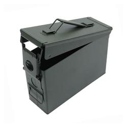 Nueva caja de municiones de Metal de 30 Cal, caja de almacenamiento de munición de acero sólido militar y militar con soporte a prueba de agua para almacenamiento de munición de pistola a largo plazo apilable 2020