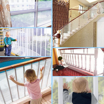 300x77cm Baby Fence Kids Safety Mesh Indoor Outdoor Rail Balcony Home Decor Fall Protection Kids Stairs Safety Net Thick Mesh 2