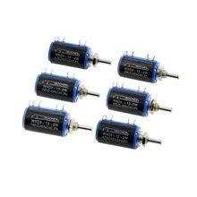 2 pces WXD3-13-2W 10 k 100/220/470/680 ohm wirewound potenciômetro multi-turn 1 k 2.2 k 4.7 k 5.6 k 6.8 k 47 k 100 k potenciômetro