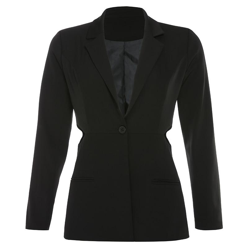 Sexy Women Stylish Coats Lady Long Sleeve Textured Black Blazer Oversized Suit Ladies Jackets And Blazers Women Formal II50XZ