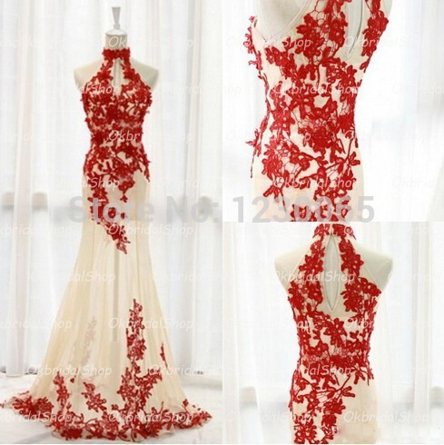 New Real Sample Red Lace Unique Sleeveless Long Elegant Inexpensive Mermaid Prom 2015 Evening Gown Mother Of The Bride Dresses