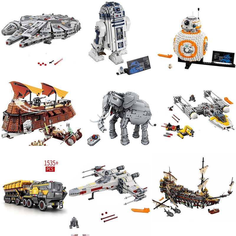 For Legoing Starwars Movie Figures Compatible StarWars Spacecraft Set Star War Space Ship Building Blocks DIY Children Toys Gift