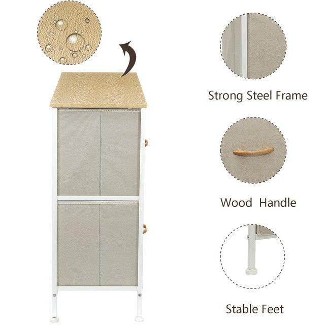 5 Drawers Fabric Dresser  4