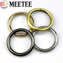 5pcs MEETEE bag hardware accessories open ring connecting buckle inner diameter 3.2 cm