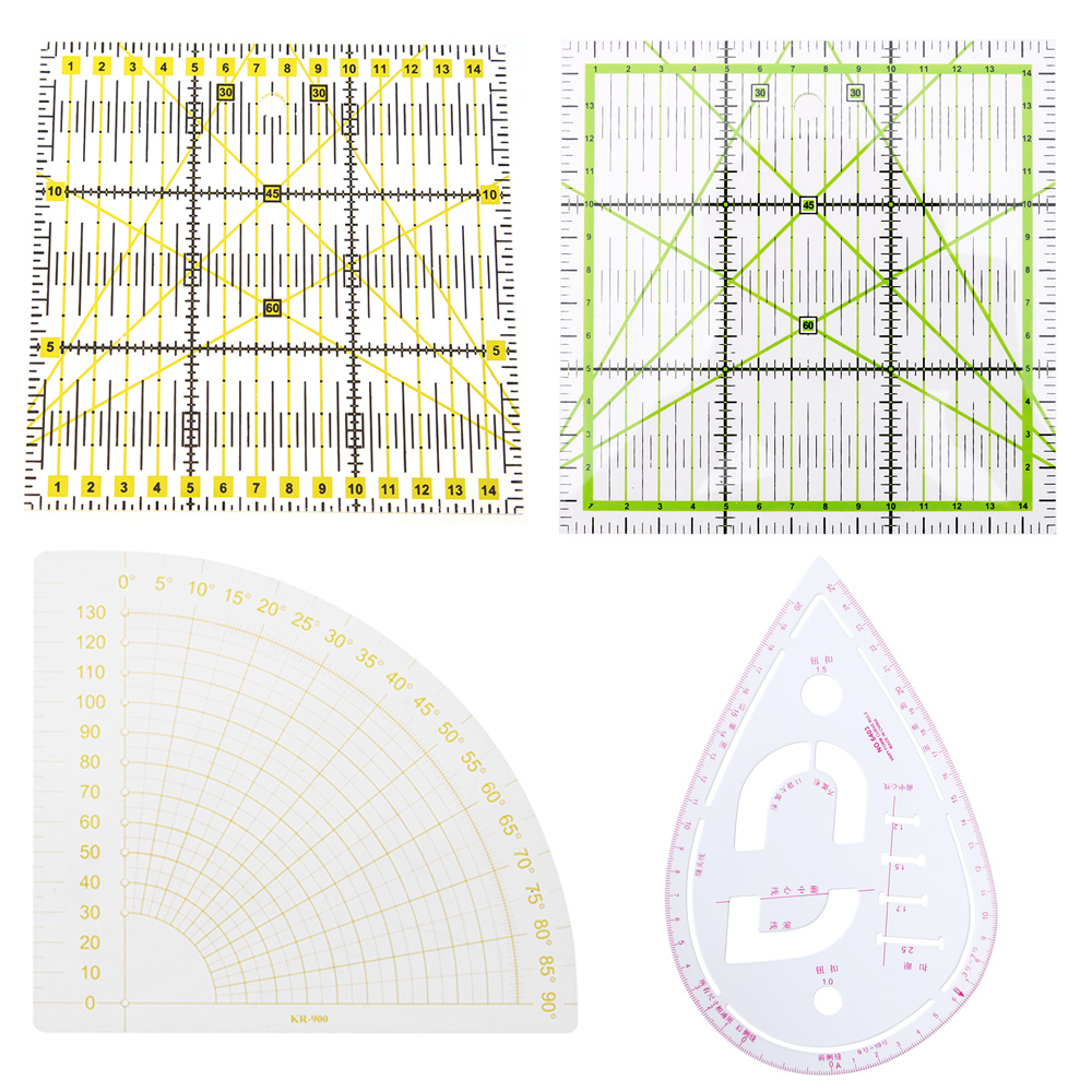 Patchwork Quilting Ruler Acrylic DIY Sewing Garment Cutting Craft Rule Drawing Tools Handmade Tailor For Home Sewing Tools
