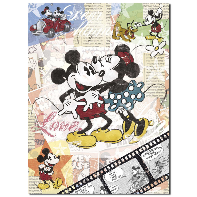 Modular Picture Canvas Painting 1panel Vintage Mickey Mouse