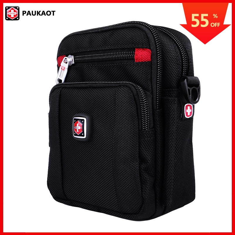 PAUKAOT Belt Bag Cell Phone Waist Packs Waterproof Bum Bags Travel Zipper Fanny Pack Men Small Pouch Purse Casual Male Pockets