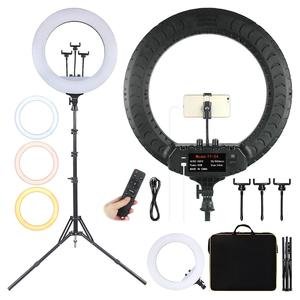 Fusitu FT-54 21 Inch LED Ring Light Photographic Lighting 2700-6500K Fill Lamp With Remote And Tripod For Photo Studio Makeup