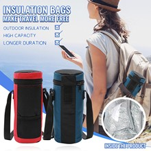 Water Bottle Cooler Tote Bag Insulated Holder Carrier Cover Pouch for Traveling Camping Hiking Universal Water Bottle Pouch#2