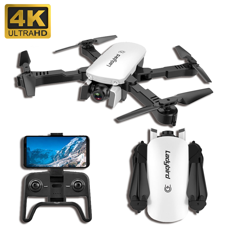 2019 New Drone 4K HD Aerial Camera Quadcopter Optical Flow Hover Smart Follow Dual Camera Remote Control Helicopter With Camera