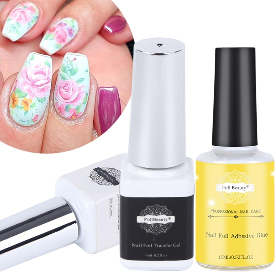 Nail Glue For Nail Art Transfer Foil Sticker Holographic Foil Adhesive Gel Polish Nail Manicure Tips Decorations Tools JI1008-1