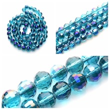 Beads Jewelry-Accessories Making Diy Round Glass Crystal for Translation 96 8mm 35pcs