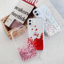 Heart-Liquid-Case Hard-Cover iPhone Silicone for 12-pro/Max/11-xr/.. Holo Glitter Xs-X-Se